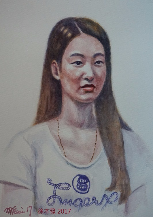 長髮女青年   35.5x23.5cm   water color.jpg
